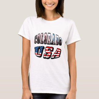 Colorado Picture and USA Text T-Shirt