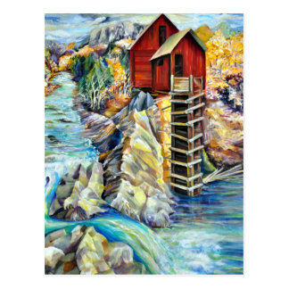 Colorado Picturesque Scenery, Crystal Old Mill Postcard