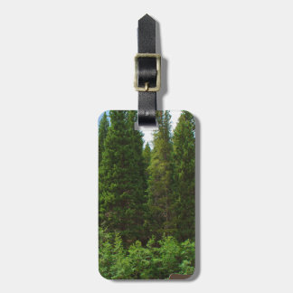 Colorado Pine Trees Luggage Tag