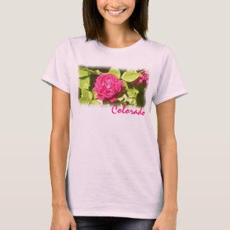 Colorado pink rose ladies shirt