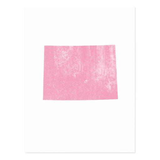 Colorado Pink Vintage Grunge Postcard