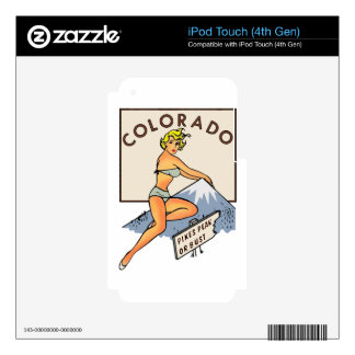 Colorado Pinup Decals For iPod Touch 4G
