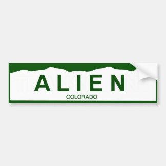 colorado plate new - ALIEN Bumper Sticker
