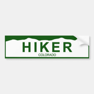 colorado plate new - HIKER Bumper Sticker