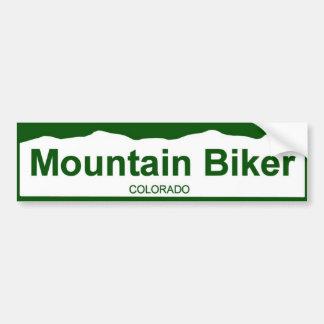 colorado plate new - Mountain Biker Bumper Sticker