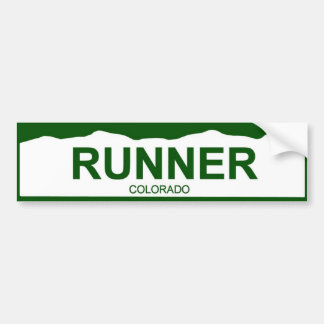 colorado plate new - RUNNER Bumper Sticker
