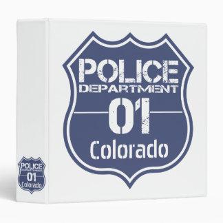 Colorado Police Department Shield 01 Binder