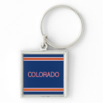 Colorado Premium Square Keychain