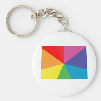 colorado pride. angled. keychain