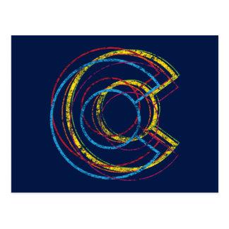 colorado pride blur postcard