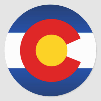 Colorado Pride Classic Round Sticker