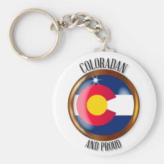 Colorado Proud Flag Button Keychain