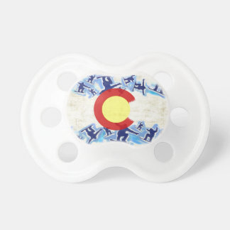 Colorado proud snowboarder flag baby pacifiers BooginHead pacifier