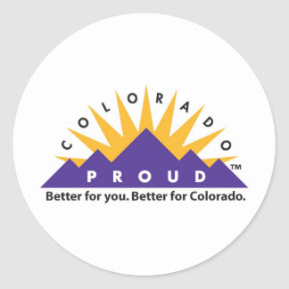 Colorado Proud Round Sticker