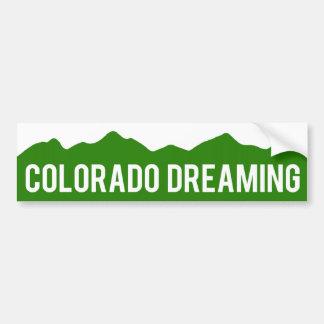 Colorado que soña a la pegatina para el parachoque pegatina para auto