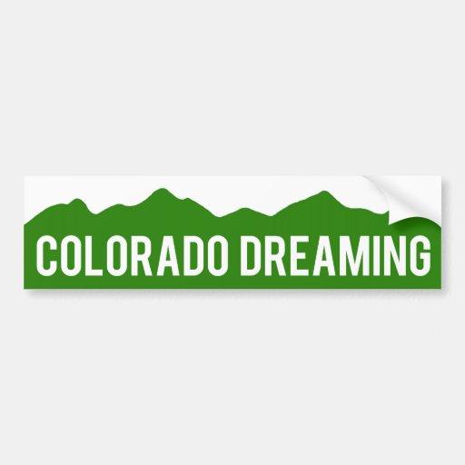 Colorado que soña a la pegatina para el parachoque pegatina de parachoque
