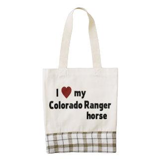 Colorado Ranger horse Zazzle HEART Tote Bag