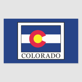 Colorado Rectangular Sticker