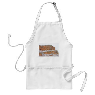 Colorado Red Sandstone Country Dusted with Snow Adult Apron
