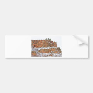 Colorado Red Sandstone Country Dusted with Snow Car Bumper Sticker