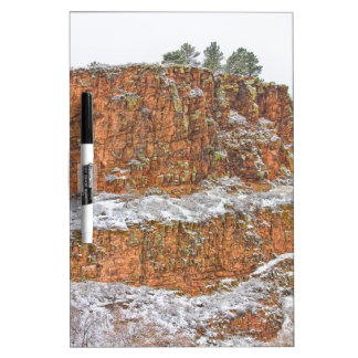 Colorado Red Sandstone Country Dusted with Snow Dry Erase Board
