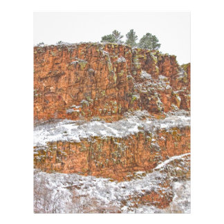 Colorado Red Sandstone Country Dusted with Snow Personalized Letterhead