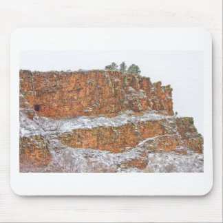 Colorado Red Sandstone Country Dusted with Snow Mouse Pads