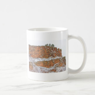 Colorado Red Sandstone Country Dusted with Snow Coffee Mugs