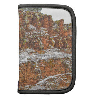 Colorado Red Sandstone Country Dusted with Snow Folio Planner