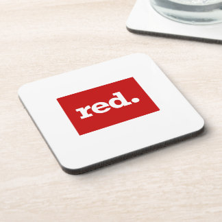 COLORADO RED STATE BEVERAGE COASTER