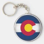 Colorado redondo llaveros personalizados