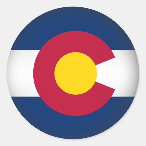 Colorado redondo pegatina redonda