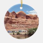 Colorado River near Moab, Utah, USA Double-Sided Ceramic Round Christmas Ornament