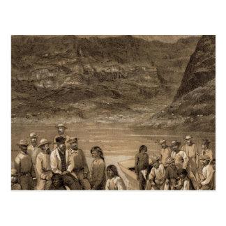 Colorado River party, Diamond Creek Postcard