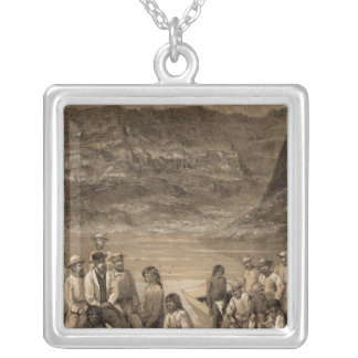 Colorado River party, Diamond Creek Square Pendant Necklace
