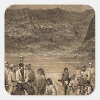Colorado River party, Diamond Creek Square Sticker