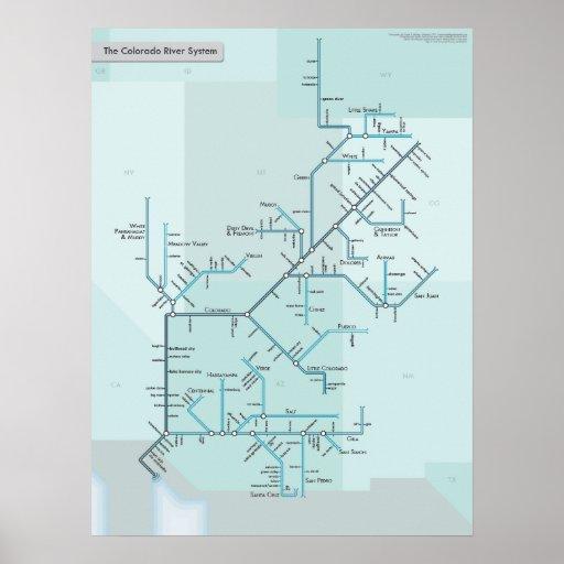 "Colorado River System 18"" x 24"" Print"
