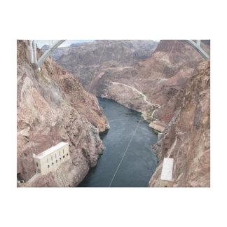 Colorado River Under Hoover Dam Bridge Canvas Print