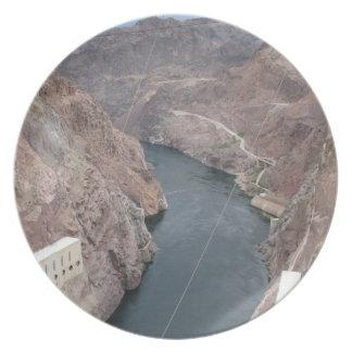 Colorado River Under Hoover Dam Bridge Dinner Plate