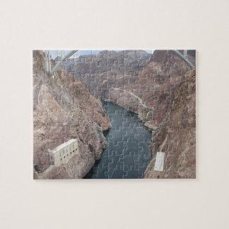Colorado River Under Hoover Dam Bridge Jigsaw Puzzle