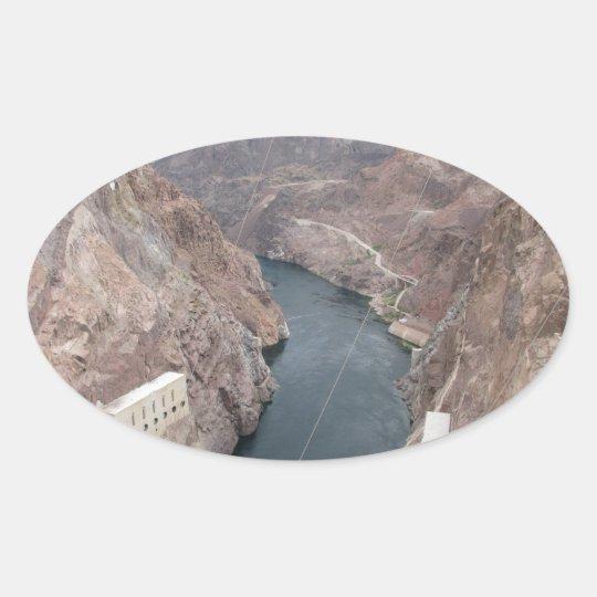 Colorado River Under Hoover Dam Oval Sticker