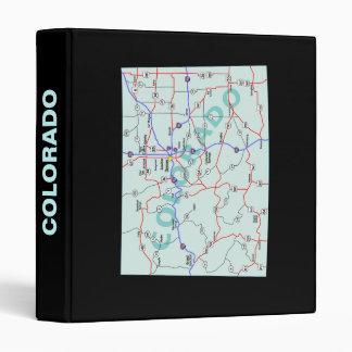 Colorado Road Map Avery Binder