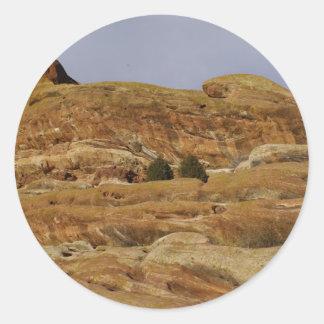 Colorado Rock Formations Classic Round Sticker