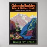 Colorado Rockies and Utah Vintage Travel Poster