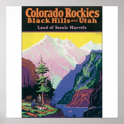 Colorado Rockies Black Hills, \ maravillas escénic Poster