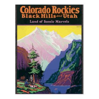 Colorado Rockies Black Hills, \ maravillas escénic Tarjeta Postal