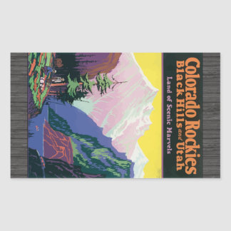 Colorado Rockies Blackhills, \Utahs Scenic Marvels Rectangular Sticker