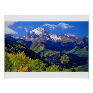 Colorado Rockies in the Fall Poster