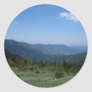 Colorado Rockies Panorama Round Stickers