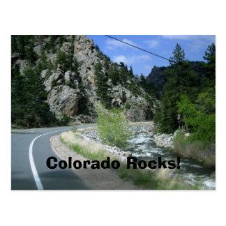 Colorado Rocks Postcard - Big Thompson Canyon